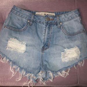 Ashley mason ripped jean shorts